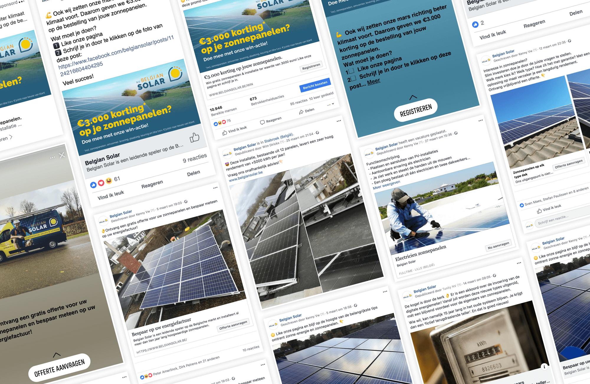 social media belgian solar