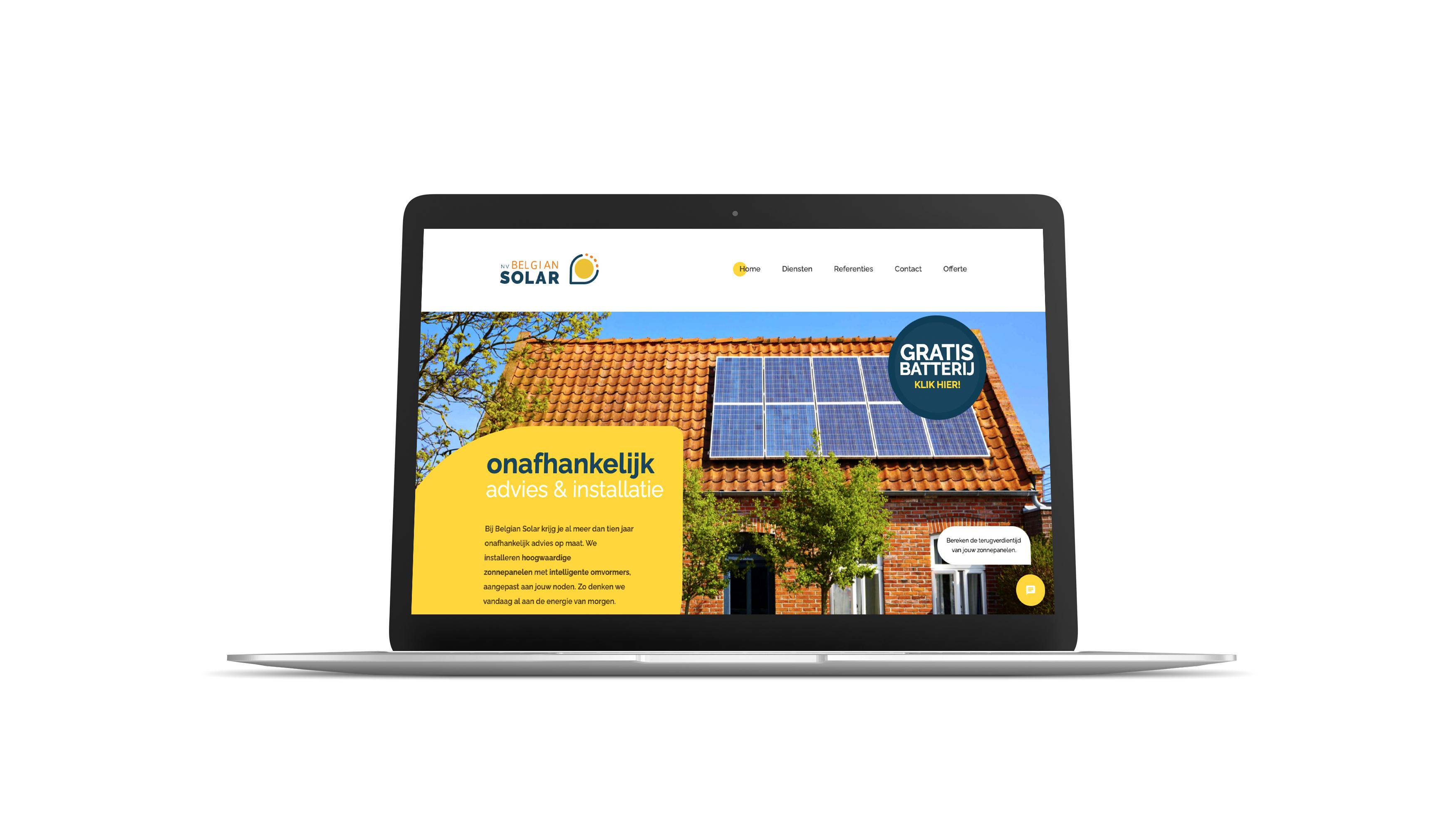 Belgian Solar Website
