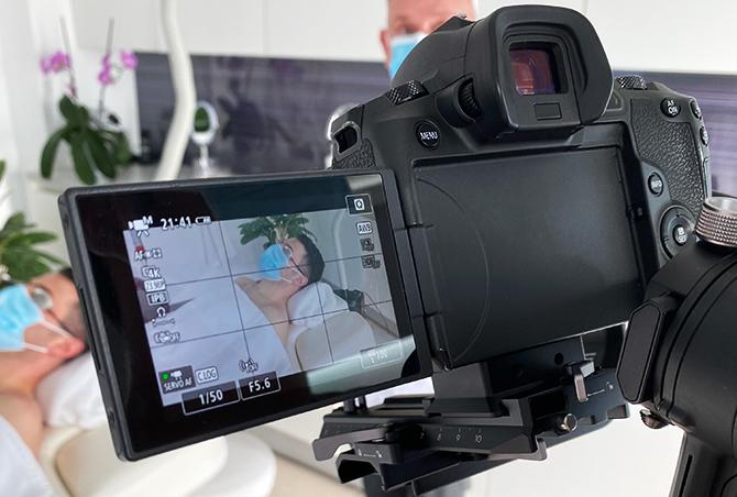 Een camera voor videomarketing.