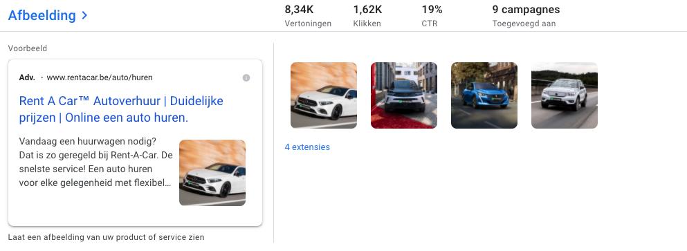 google ad image extensions automotive
