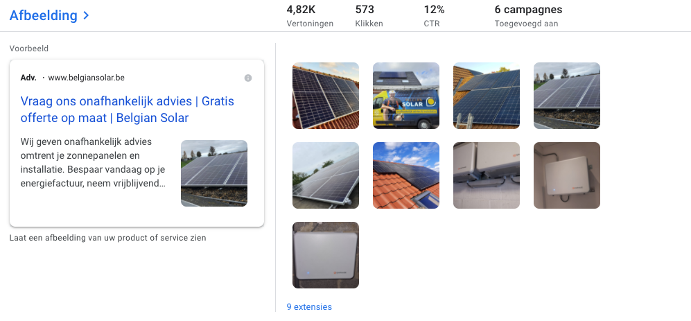 google ad image extensions solar energy
